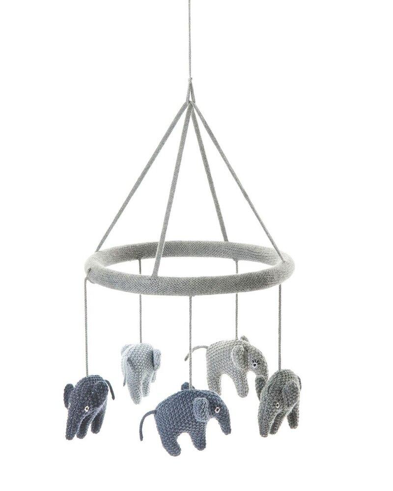 Image of   Smallstuff Uro Med Elefanter, Blue